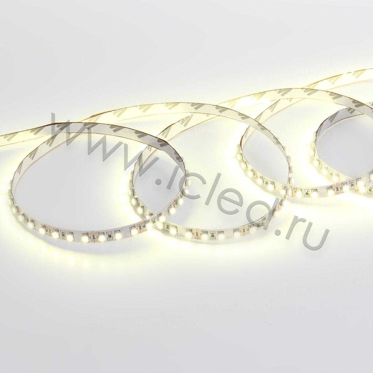 Светодиодная лента Standart class 3528,120led/m, Day White, 12V, IP33, G180