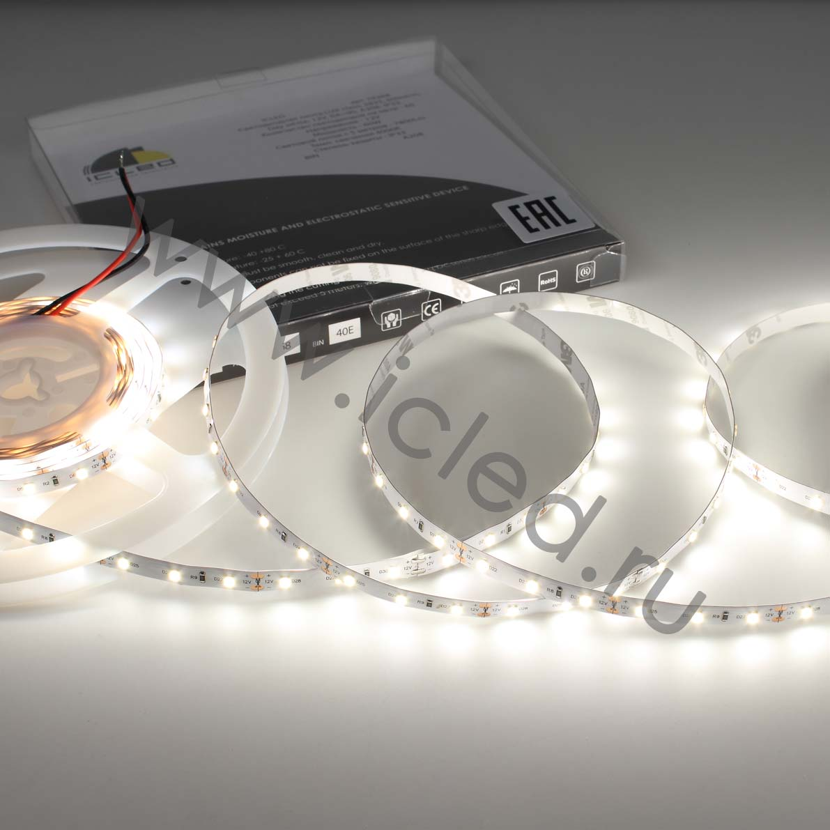 Светодиодная лента LUX class, 2835, 60led/m, Day white, 12V, IP33, CRI>90, A208